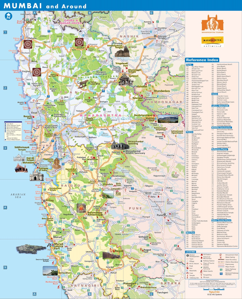 Mumbai Tourist Map Tourist Map – Around Mumbai – Mumbai Mart